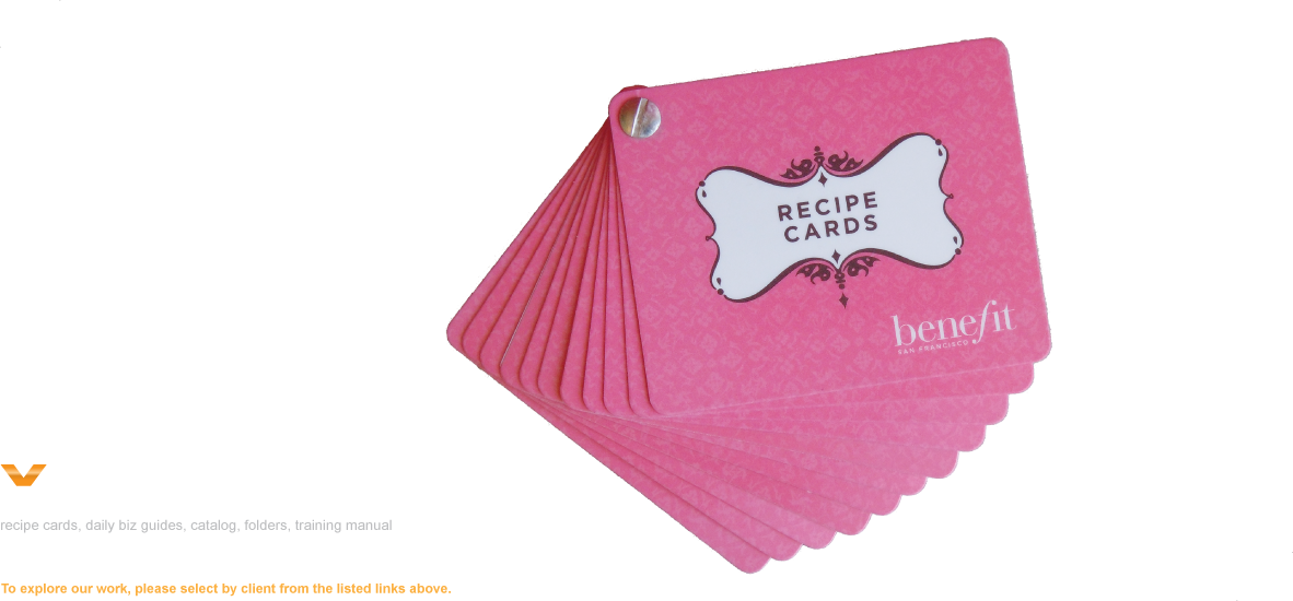 recipe cards daily biz guides catalog folders training manual